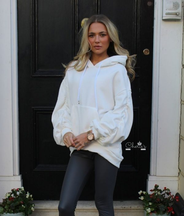 Cherie;s Boutique Women's Clothes Ongar White Hoodie